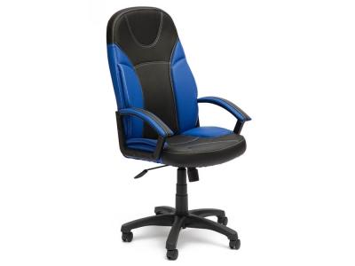 Кресло Twister кож.зам Чёрный + Синий (36-6/36-39)