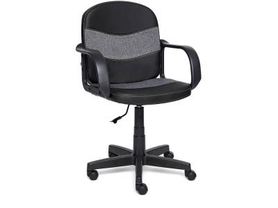 Кресло Baggi кож.зам + ткань Чёрный + Серый (36-6/207)