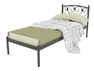 Кровать металлическая Ева черная
