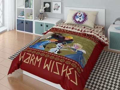 Комплект постельного белья DISNEY 1,5СП Olaf warm wishies