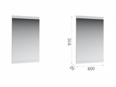 Зеркало навесное Йорк 600 Белый жемчуг