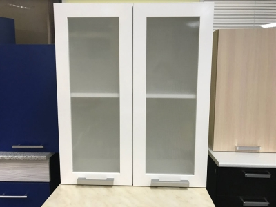 Шкаф навесной со стеклом Ш600с Белый акция