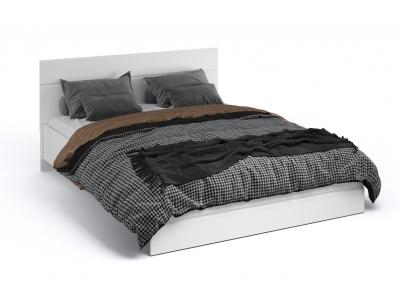 Кровать 160 без основания Йорк Белый жемчуг