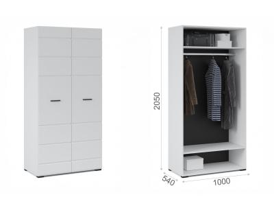 Шкаф 2-х дверный Йорк Белый жемчуг